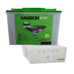 AMARON AAM-CRTT165 (165 Ah) & AMARON 825 VA PURE SINEWAVE