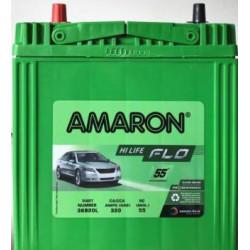 Amaron FLO 36B20L (35 AH), Warranty : 55 Months (30 full replacement+25 Months Pro-Rata)