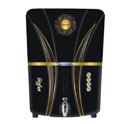 Aquafresh Diamond Black RO+UV+UF Water Purifier in 12 LTR