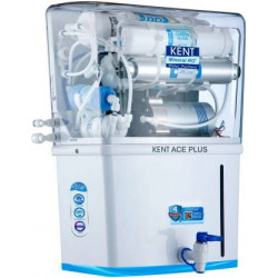 Kent ACE Plus 8 L RO + UV + UF + TDS Control + UV in Tank Water Purifier  (White)