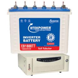 Microtek Home Ups EB900 VA S/W + EB1800 TT (150 Ah) Battery