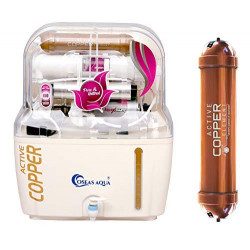 OSEAS AQUA Water Purifier with Active Copper RO+UV+UF+MTDS + Copper Water Purifier